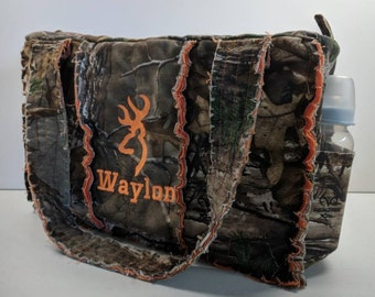 RealTree orange camo diaper bag, 15 wide x 10 tall x 5 deep, orange camo diaper bag, personalized camo diaper bag, camo diaper bag