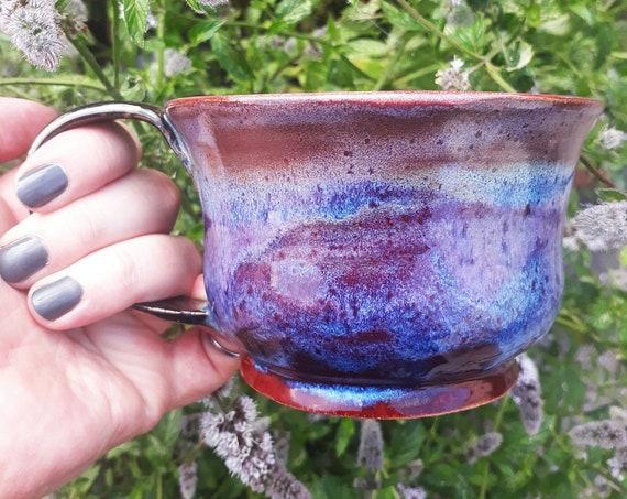 purple/blue/red Mug - 'Fire In The Sky'