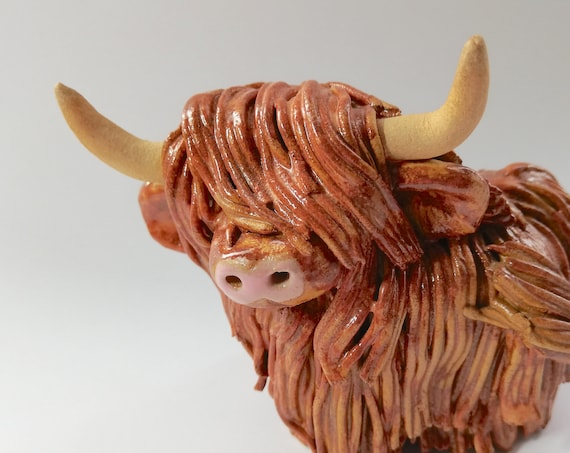 Handmade Rusty Highland Coo