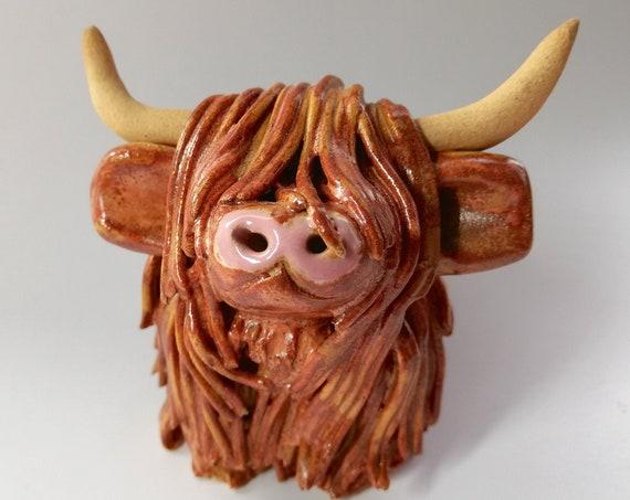 Handmade Rusty Highland Cow
