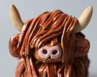 Handmade Ceramic Highland Cow