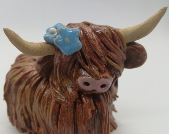 Forget me not  Highland Coo