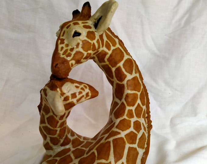 Giraffe Mother and Calf Sculpture