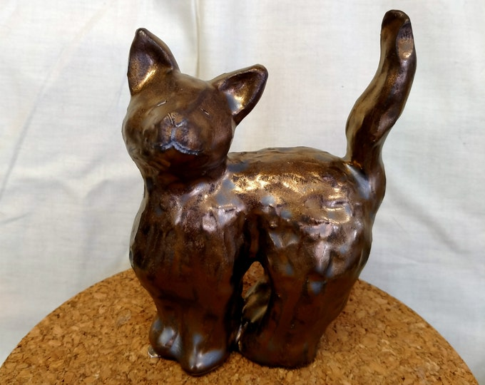 Gold Cat Sculpture