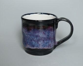 Handmade Blue Galaxy Glazed Ceramic Mug
