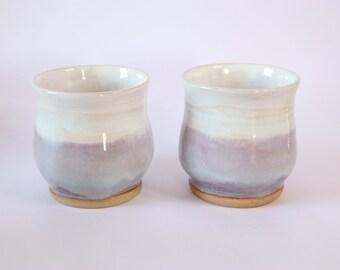 Pair of Handmade Ceramic Wine/Whiskey Tumblers
