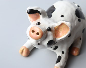 Handmade Ceramic Old Spot Pig