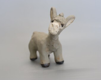 Handmade Ceramic Donkey from Weston-Super-Mare