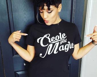 Creole Girl Magic (glow in the dark tee) Creole T-shirt