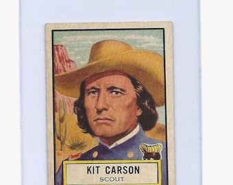 1952 Topps LOOK N SEE Kit Carson Scout Card #53 Nice!