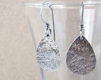 Recycled Sterling Silver Earrings ~ Pear Shape ~ Handcrafted with Australian-Made 100% Recycled 925 Sterling Silver ~ Eco-Friendly Gift