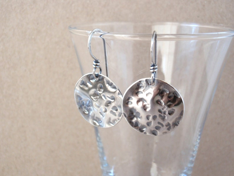 Full Moon Earrings  Handcrafted with Eco-Recycled 925 image 0