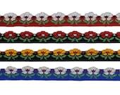 0.5 quot (13 mm) Flower Jacquard Ribbon 3439 (1 yard)