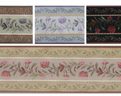 2 quot (50mm) French Floral Jacquard Ribbon 3904 (1 yard)