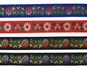 7 8 quot (22 mm) Floral Jacquard Ribbon 3235A (1 yard)