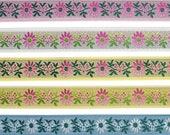 7 8 quot (22 mm) Floral Jacquard Ribbon 3235 (1 yard)