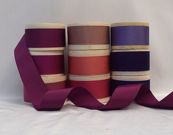 38mm Brown Rayon Finished or Woven Edge Grosgrain Ribbon 1-1//2