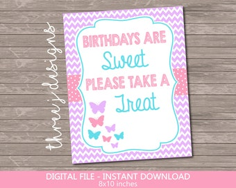 Butterfly Birthday Party Thank You Card Brown Teal INSTANT DOWNLOAD Maroon and Gold J012 Digital File