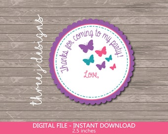 Digital File Purple and Teal Butterfly Baby Shower or Birthday Party Welcome Sign J001 J013 INSTANT DOWNLOAD