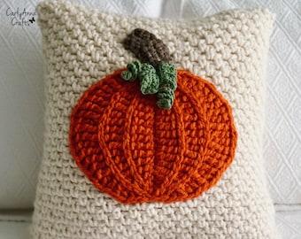 Crochet Pillow PATTERN  // Crochet Fall Decor Pillow // Autumn Decor // Pumpkin Pillow  // Crochet Pillow Cover // Easy // Country Pumpkin