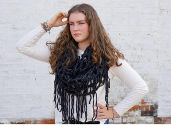 Crochet Pattern // Cottonwood Scarf // Crochet // Mesh // Infinity Scarf // Easy // Fast // Winter Accessories // COTTONWOOD SCARF PATTERN