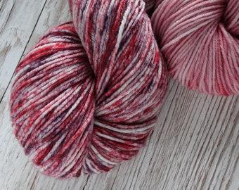 Summer Fruits, DK - Handdyed Speckled Yarn, DK Weight, Superwash Merino, Nylon Blend Yarn, 75/25