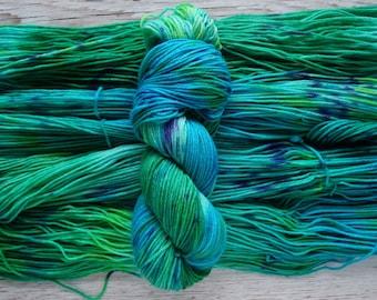 Seaside Fields, DK - Hand Dyed Variegated Yarn - 27 Micron Superwash Merino, Nylon Blend Yarn, 75/25