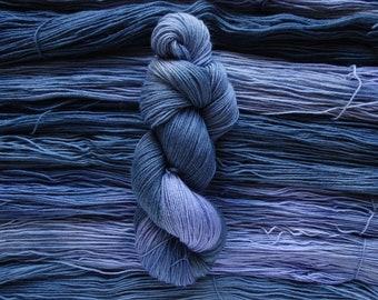 After Dusk, 4ply - Hand Dyed Variegated Yarn, 4ply/Sock - 27 Micron Superwash Merino, Nylon Blend Yarn, 75/25
