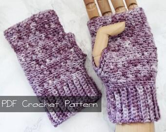 Stars in a Row Fingerless Gloves, Crochet Pattern, PDF Digital Download