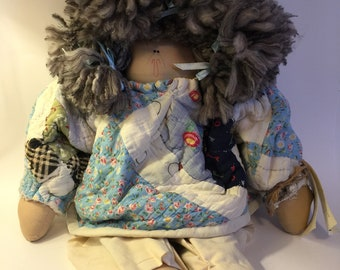 Handmade quilted doll