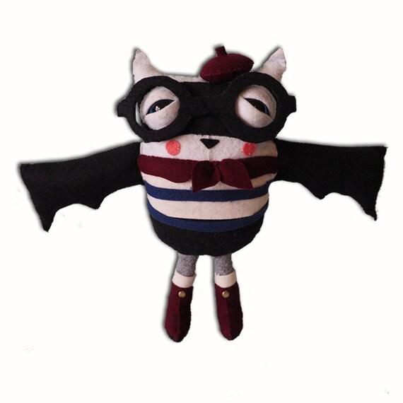 Benoit le cadeau unique et d'anniversaire halloween chauve souris - jouet créature en peluche à la main