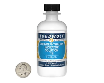 Phenolphthalein Indicator Solution / 4 Fluid Ounces / 1% Concentration / Same Day Shipping