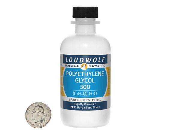 polyethylene glycol 300 4 fluid ounces 99 9 food grade etsy
