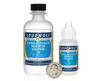 Phenolphthalein Indicator Solution / 5 Fluid Ounces Total / 1% Concentration / Same Day Shipping
