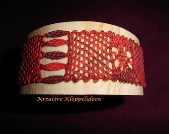 Wooden bangle with Lace