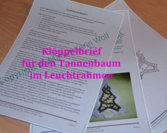 Bobbin letter for the light Tannenbaum