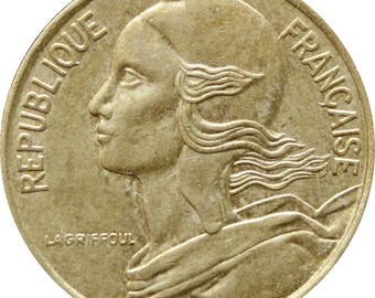 1990 5 Centimes France Coin Marianne