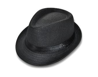Black Fedora Hat for Baby Toddler Boy Child