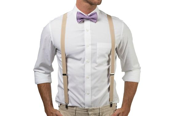 Men Boy Toddler Beige Suspenders  Tan Suspenders for Baby