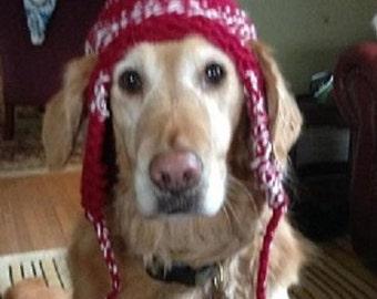 Dog Earflap Hat Knitting Pattern