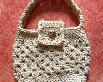 Toddler/Young Girl Crochet Shoulder Purse