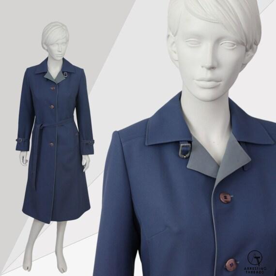 Cadet Blue Mac, Vintage 60s Mac, 60s Blue Mac Coat