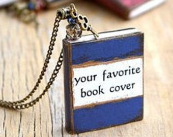 Custom book necklace Personalized jewelry Book charm Custom book pendant Personalized gift for writers Bookish gift Book lover gift bookworm