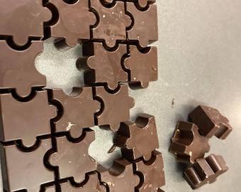 chocolate jigsaw puzzle