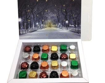 Luxury Chocolate Advent Calendar, Christmas Gift, Advent Calendar, Chocolate, Cornish Chocolate
