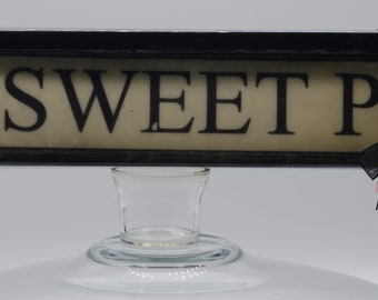 Personalised chocolate licence plate