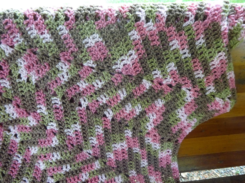 Star Afghan Crocheted Afghan Star Shaped Blanket Pink Camo Etsy