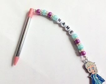 Personalised Nintendo 3DS stylus/pen with Elsa or Anna or Olaf from Frozen charm