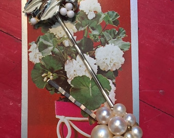 "Adorable vintage jewelry bobby pins. Perfect for bridal / wedding party ""something old""!"