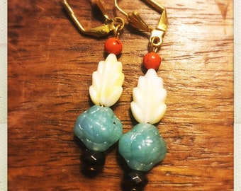 Vintage bead drop earrings